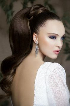 Beautiful Hairstyles for Long Hair – Do you have long beautiful hair and just ra… - Hochzeitsfrisuren Wedding Ponytail Hairstyles, Long Hair Ponytail, High Ponytails, Prom Hairstyles, Bridal Ponytail, Stylish Hairstyles, Mohawk Hairstyles, Hair Updo, Summer Hairstyles