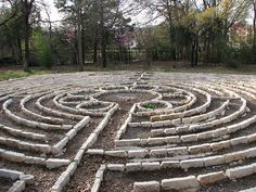 This labyrinth is behind the White's Chapel United Methodist Church in Southlake, Texas. I think I shall visit. Walking Meditation, Meditation Garden, Meditation Music, Labyrinth Walk, Sacred Garden, Labrynth, Medicine Wheel, Crop Circles, Around The Worlds