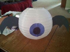 Skylander Eye Brawl Paper Lantern.  Used store bought paper lantern and construction paper. Skylander giants birthday party
