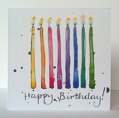 Birthday Candles Card from Original Illustration