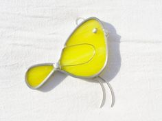 Cheerful little yellow stained glass bird.  I love when things are so simple yet still adorable.