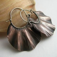 Earrings | Dante and Sabrina Acevedo ~ Sun Tribe Designs. Oxidized Copper and sterling silver.*