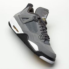 "The Air Jordan 4 ""Cool Grey"" returns 15 years after its initial release. Full family sizes are coming in August. For a detailed look, tap the link in our bio. Jordan Shoes For Men, Air Jordan Sneakers, Nike Air Shoes, Jordans For Men, Air Jordans, Jordans Sneakers, Mens Shoes Jordans, Jordan Basketball Shoes, Jordan 4"