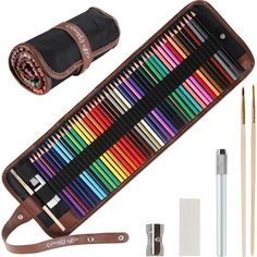 Amazon Lightning Deal  Amazon.com: Colored Pencils for Adults - 48 Vivid Watercolor Pencils & Case Set, Artist Grade 3.5mm Soft Cores, Color Dry or Wet, Ideal for Art & Coloring Books. Premium accessories & Free Mandalas eBook Inc: Arts, Crafts & Sewing