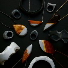 Melbourne-based designer Britta Boeckmann has a talent for creating absolutely gorgeous, handmade resin jewelry.