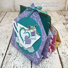With the end of the school year approaching, everyone's looking for a sweet treat that's easy to make. Or thinking about wedding favors? Also a great idea! This 6 Pocket Treat Holder is a perfect fit. Just grab some 6″x6″ squares of Designer Series Paper (you pick the theme) and get ready to start folding. …