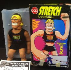 The one and only Stretch Armstrong! I remember the day he tore open in one of the toy chests...I think there is still impossibly sticky goo in it.