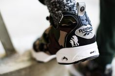 "ded7e90fbffd20 AAPE by A Bathing Ape x Reebok Pump Fury ""Camo"""