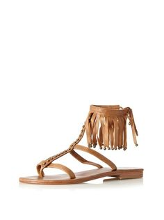 Beads and fringe. Done. Cocobelle Women's Sparta Sandal, $114