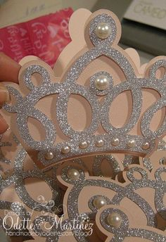 Princess Crown for a little Princess … Princess Theme, Baby Shower Princess, Princess Birthday, Little Princess, Girl Birthday, Birthday Parties, Birthday Crowns, Princess Crowns, Disney Princess