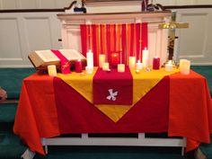 Church decoration for Pentecost