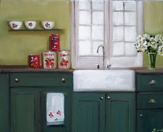 Kitchen Daisies by Janet Hill