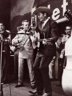 """Hank Williams - First song I learned as a child was """"Hey Good Lookin"""". I was four years old. My Dad knew HANK casually. Dad serviced equipment in some of the Theaters on Hanks circuit in AL, GA & FL. circa 1945-1951"""