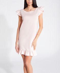 Look what I found on #zulily! Pink Powder Ruffle Shift Dress #zulilyfinds