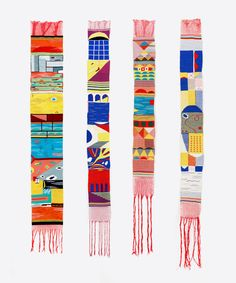 Beautiful carpets by Hannah Waldron. DIY inspiration for weaving projects. Weaving Textiles, Weaving Art, Tapestry Weaving, Loom Weaving, Hand Weaving, Textile Design, Textile Art, Small Tapestry, Miss Moss
