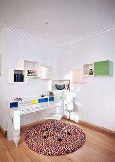 como fazer tapete de pompom home office