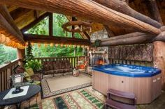Top 25 Blue Ridge Resorts and Cabin Rentals .Patio with hot tub at Mountain Oasis Cabin Rentals. Georgia Mountain Cabins, Mountain View, Georgia Cabin Rentals, Blue Ridge Cabin Rentals, Unique Vacations, Vacation Places, Vacation Ideas, Vacation Rentals, Girls Vacation