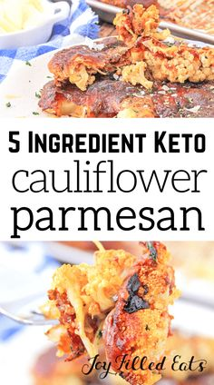 You'll love the flavors, and textures in this Cauliflower Parmesan. Keto Parmesan Cauliflower is delicious & has only five ingredients & a five-minute prep! This is just about the best cauliflower I've ever eaten. You'll love the flavors, and textures in this Cauliflower Parmesan. You get the great Italian flavors, it's really delicious, and it has only five ingredients and a five minute prep time! You can serve this Sheet-Pan Parmesan Cauliflower for dinner, and everyone will want seconds. Trim Healthy Recipes, Side Dish Recipes, Veggie Recipes, Low Carb Recipes, Parmesan Cauliflower, Cauliflower Recipes, Dash Recipe, Joy Filled Eats, Low Carb Side Dishes