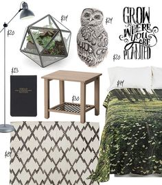 Dorm Style: A Whimsical Woodland Room for Under $300