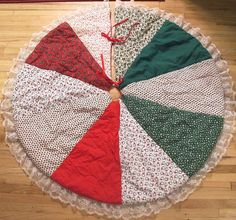 Quilted Tree Skirt by lishyloo on Etsy, $20.00