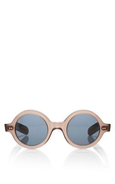 Round Frame Acetate Sunglasses by Cutler and Gross - Moda Operandi