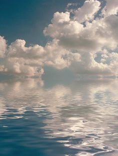 Clouds over water. Art photo by Jerry McElroy