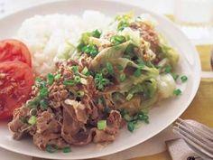 レタスのうまだれプレート (牛肉) 鍋ひとつの時短お手軽料理