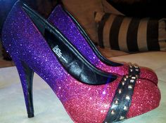 Glitter shoes w/gradient. I'm pretty sure my skills would translate.