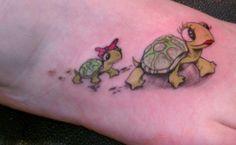 7 gentle turtle tattoo designs for women jpg 650x400 Cartoon turtle tattoo  designs