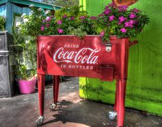 Coca Cola Ice Chest by StevenAndrewDesign on Etsy, $20.00