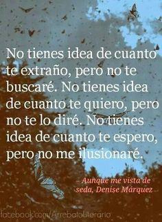 no me ilusionare Denise Marquez, Mom Quotes, Best Quotes, Love Phrases, Perfection Quotes, Romantic Love Quotes, Sad Love, Spanish Quotes, Cool Words