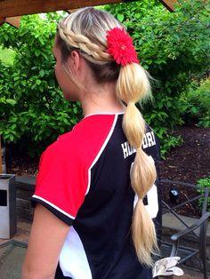 ... Hairstyles on Pinterest Game Day Hair, Softball Hair and Softball