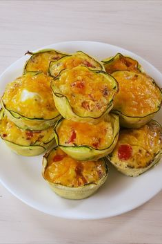 Low-Carb Zucchini Egg Cups Are Packed With Flavor — Delish Healthy Egg Recipes, New Recipes, Cooking Recipes, Breakfast Recipes With Zucchini, Healthy Food, Weekly Recipes, Zuchinni Recipes, Healthy Tacos, Healthy Kids