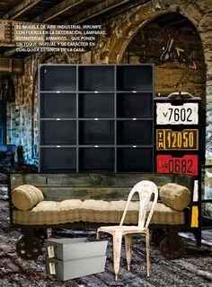 Las claves del estilo factory en Casa & Campo. | Muebles vintage, mobiliario retro e industrial