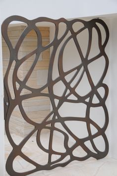Axolotl Metal   Lasercut Gate   Scribble Design   Treasury Bronze Pearl   Metal Coating