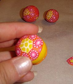 Flower cane tutorial in pictures - polymer clay