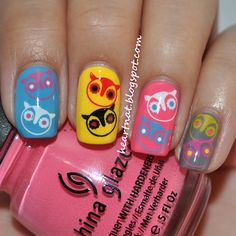 heartNAT owl #nail #nails #nailart