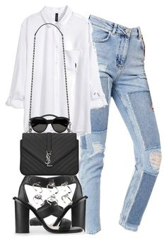 """""""Untitled #1020"""" by she-is-wearing-this ❤ liked on Polyvore featuring BDG, H&M, MANGO, Yves Saint Laurent and ASOS"""
