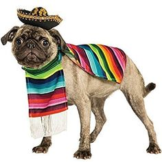 Uk Gifts For Pets Pet Dog Cat Mexican Poncho Sombrero Hat