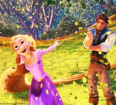 Flynn in this picture. Eugene and Rapunzel Tangled Walt Disney movie animation enchanting fairytale. Walt Disney, Disney Pixar, Disney Rapunzel, Tangled Rapunzel, Disney Nerd, Best Disney Movies, Disney Films, Disney Animation, Disney And Dreamworks