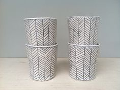 Herringbone Patterned Whiskey Cup - @ Wantcy.com