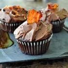 Dark Chocolate Bacon Cupcakes.  12 slices of Bacon