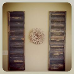 Ideas for old shutters in home
