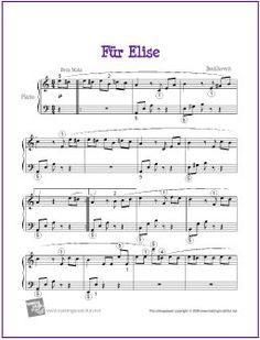 Fur Elise by Ludwig van Beethoven for Easy Piano Solo Creative Resources for Elementary Music Education | MakingMusicFun.net