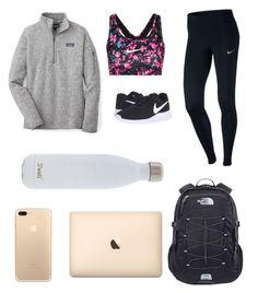 """Untitled #3"" by megansommie10 on Polyvore featuring NIKE, Patagonia, The North Face and S'well"