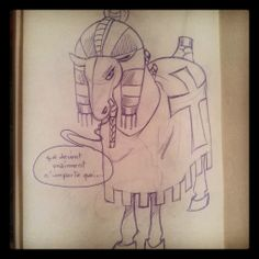 un cheval pharaon templier