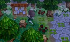 overgrown forest green gloomy acnl- pigeoncoffee