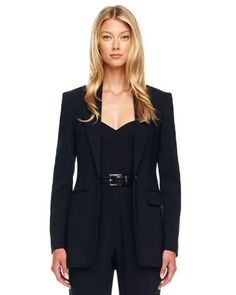 Michael Kors One-Button Crepe Jacket. i love this and i would definitely want to wear it