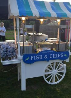 Vintage Fish and Chip cart to hire for your event, Great British Catering.