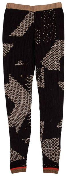 // woven leggings